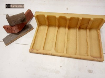 Полиуретановая форма «Олд брик кирпич декоративный», угловые элементы