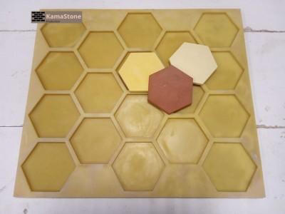 Полиуретановая форма для гипсовой/бетонной плитки «Соты» гексагон