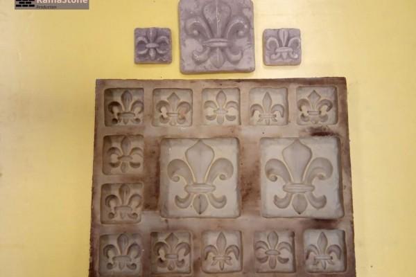 Полиуретановая форма для декоративного камня «Декоры-изразцы Лилии»