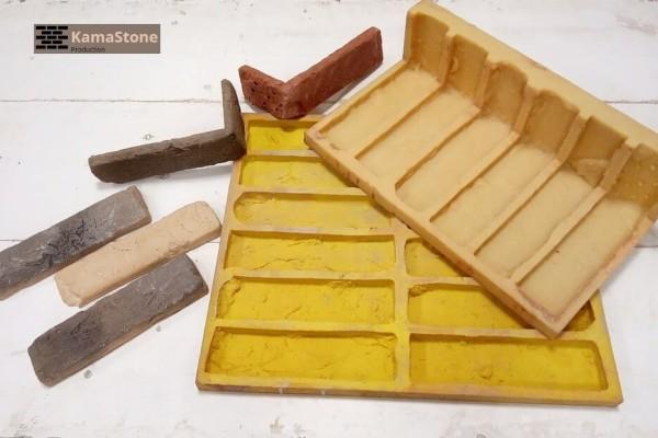 Полиуретановая форма «Олд брик кирпич декоративный», комплект с угловыми элементами