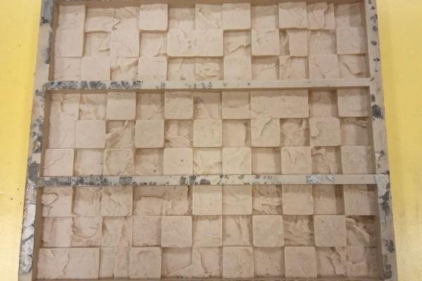 Полиуретановая форма  для искусственного камня «Шахматы 3д мозаика»
